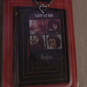 """Jewelry - NWT, The Beatles """"Let it Be"""" Dog tag pendant chain"""
